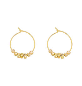 With love Earrings dancing rocks gold