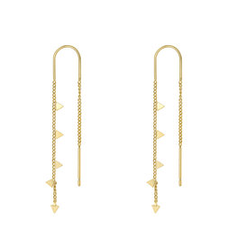 With love Earrings dangle - triangle gold