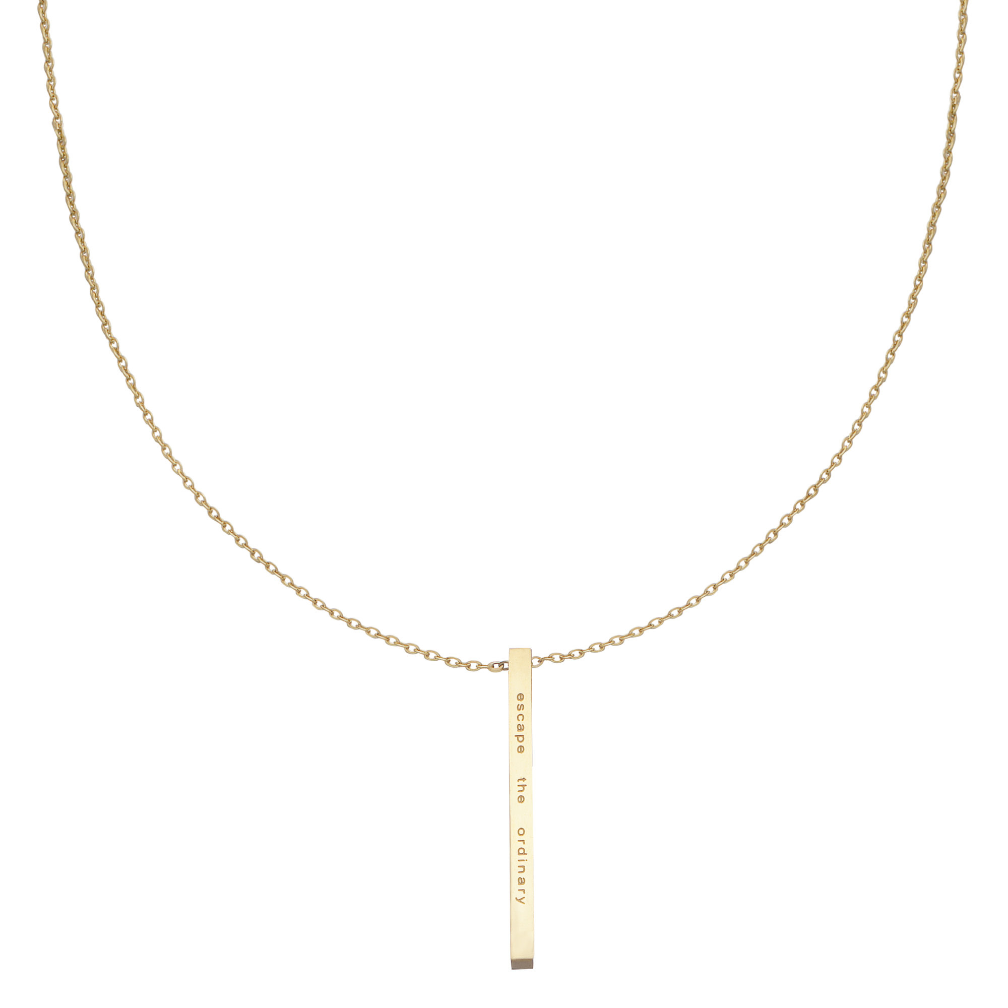 With love Necklace escape the ordinary gold