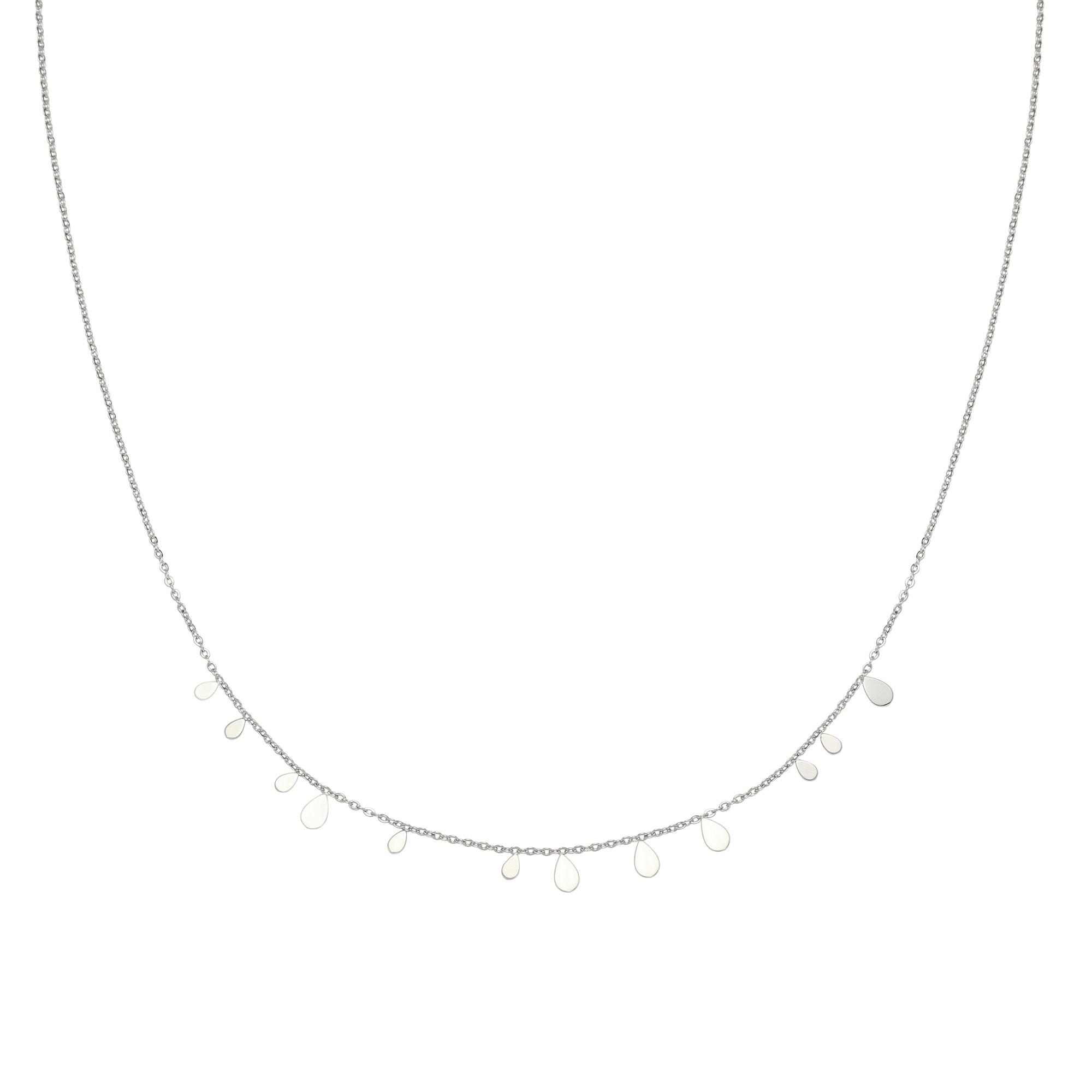 With love Necklace confetti rain silver