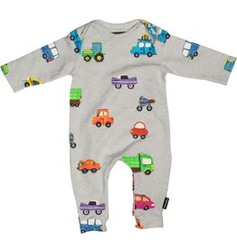 Snurk Bedding Snurk jumpsuit babies - Clay cars