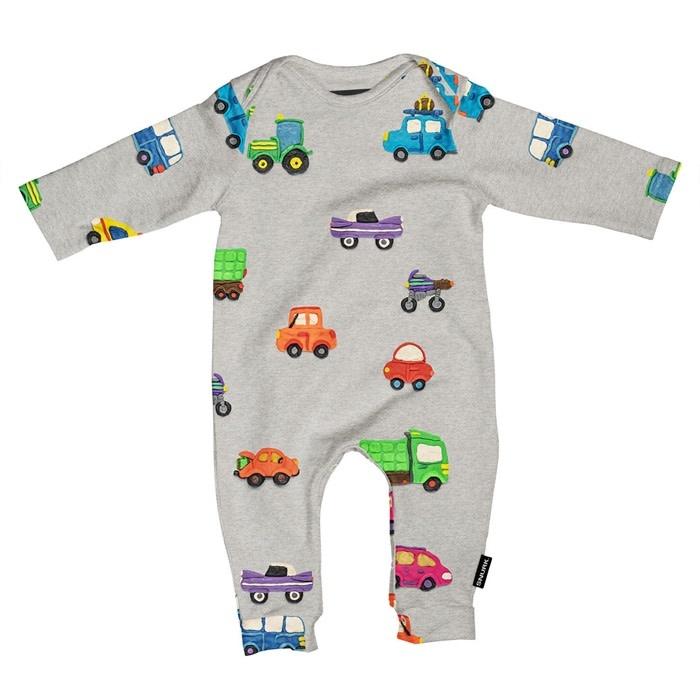 Snurk Bedding Snurk jumpsuit babies - Clay cars