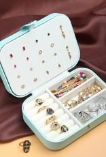 With love Jewellery box aqua 16 x 11 cm
