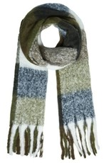 With love Scarf colored blocks olive - navy