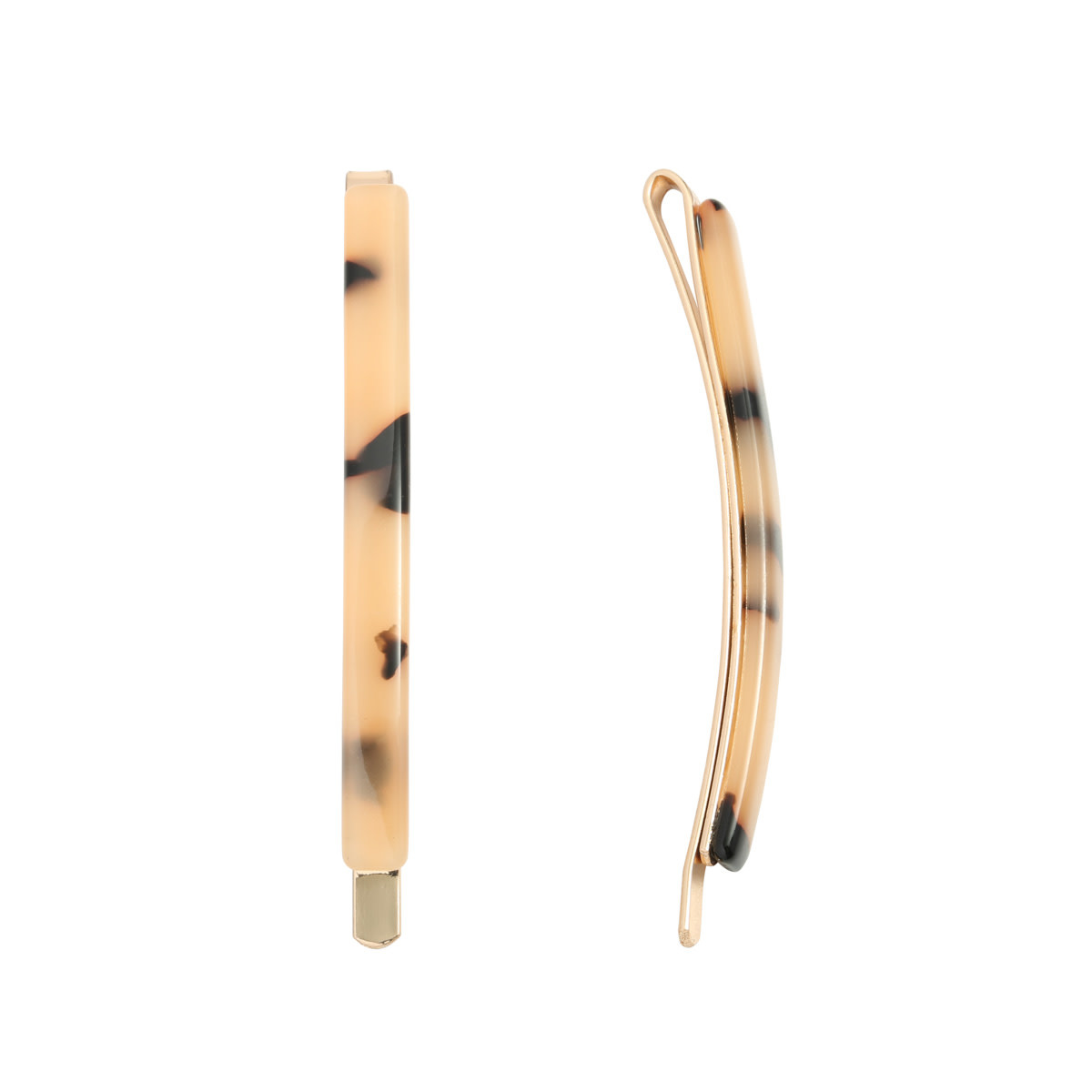 With love Hair clip Adorable Beige Marble