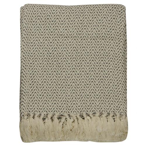 Plaid cotton ziggy grey  125x150cm