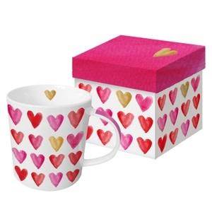 Paperproducts Design Trend mug in box 'Aquarell heart'