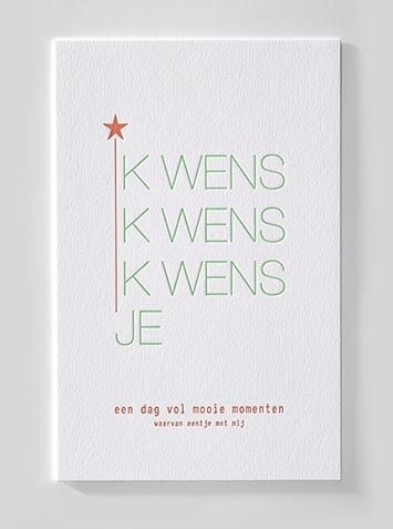 Papette Papette Enna greeting card with enveloppe 'ik wens je'