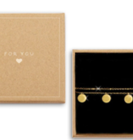 With love Gift box - double bracelet coins