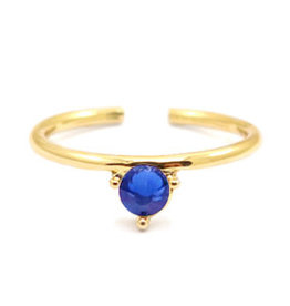 With love With Love ring one size - gold - blue