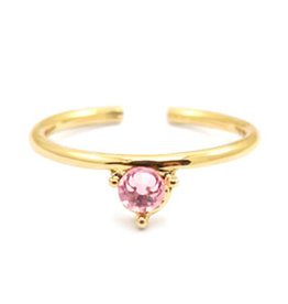 With love With Love ring one size - gold - pink