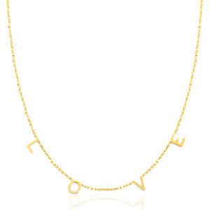 With love With love necklace gold - LOVE