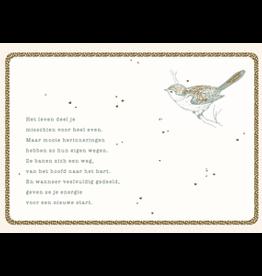 Enfant Terrible Enfant Terrible card + enveloppe 'Het leven deel je misschien voor even'