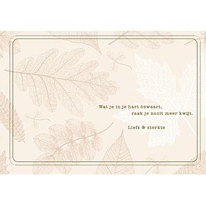 Enfant Terrible Enfant Terrible card + enveloppe 'Wat je in je hart bewaart'