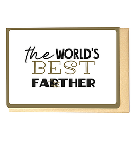Enfant Terrible Enfant Terrible card + enveloppe 'The world's best fa(r)ther'