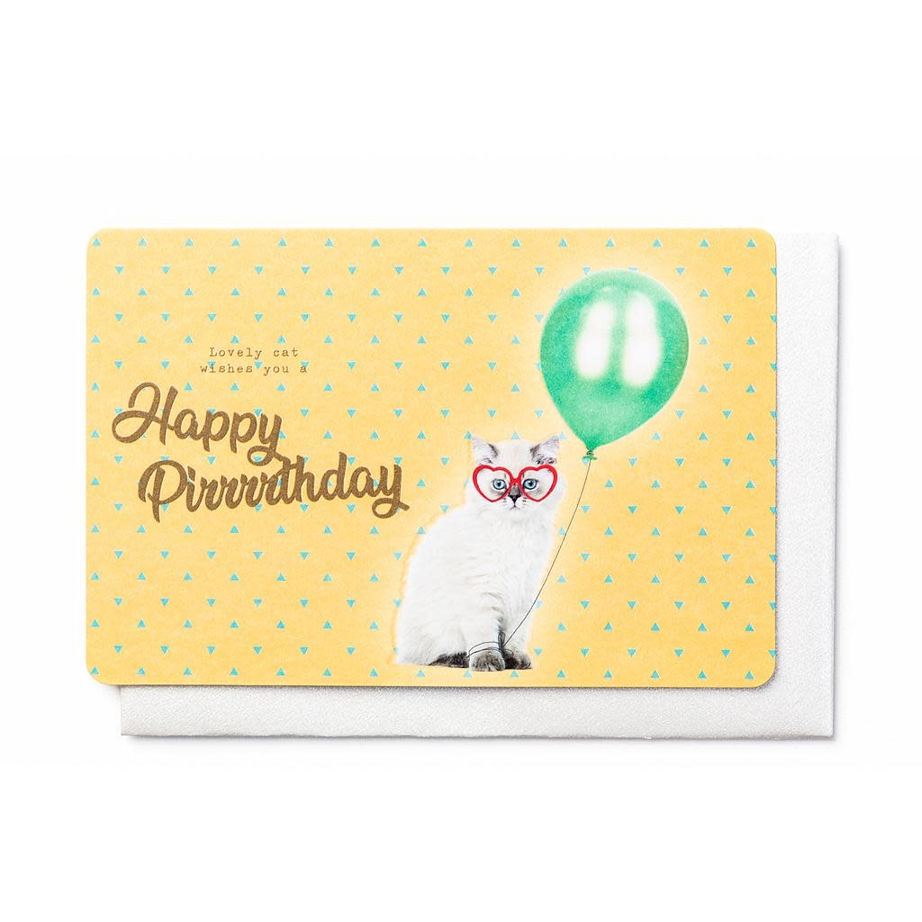 Enfant Terrible Enfant Terrible card + enveloppe 'Lovely cat wishes you a happy pirrrthday'