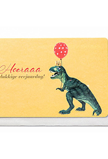Enfant Terrible Enfant Terrible card + enveloppe 'Hoeraaa gelukkige verjaardag - dino'