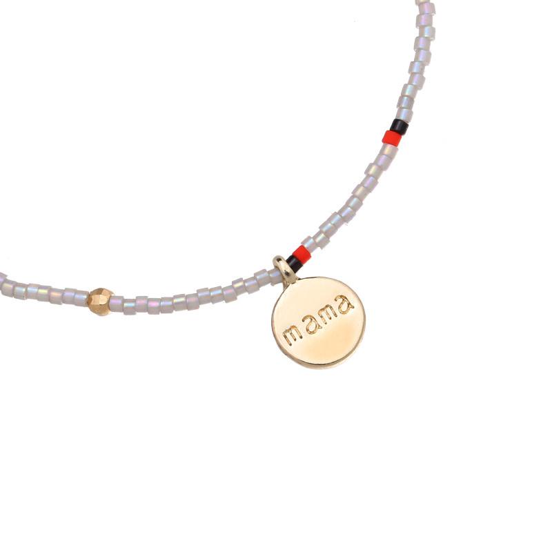 With love Bracelet - Lovely mama grey