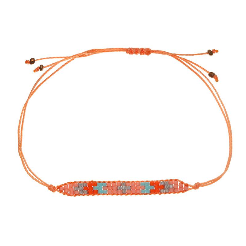 With love Bracelet little beads - orange