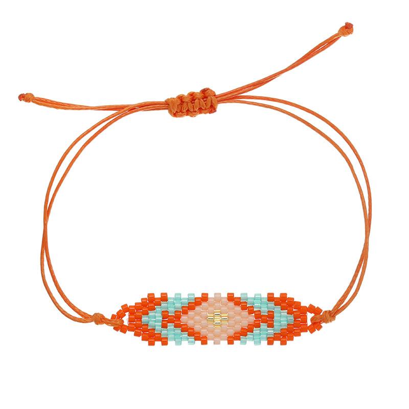 With love Bracelet beaty beads - orange