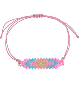 With love Bracelet beaty beads - pink