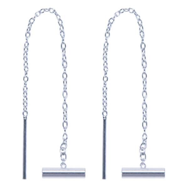 Treasure Silver tread earrings