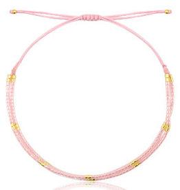 With love Bracelet miyuki pearls pink