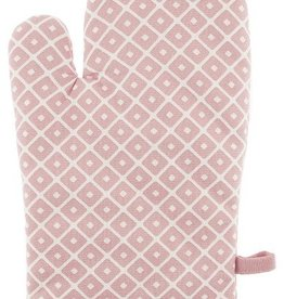Linen & More Set 2 oven gloves geodot pink