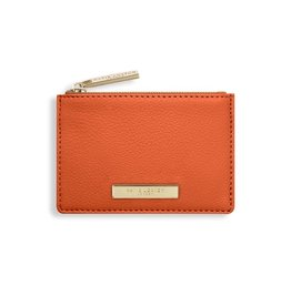 Katie Loxton Katie Loxton Alise soft pebble card holder - burnt orange 7.7 x 10.7 x 1.3 cm