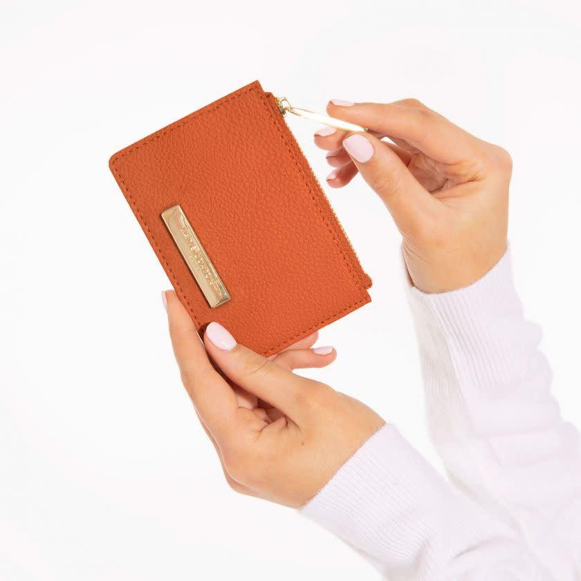 Katie Loxton Katie Loxton Alise soft pebble card holder - burnt orange 7.7 x 10.7 x 1.3 cm