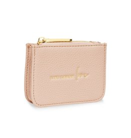 Katie Loxton Katie Loxton stylish structured coin purse - Live laugh love - nude pink - 7.7 x 10.7 x 2.7 cm