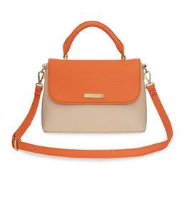 Katie Loxton Katie Loxton Talia two tone messenger bag - burnt orange & tan - 19.5 x 24.5 x 8 cm
