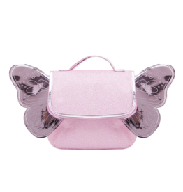 Caramel & cie Pink glitter butterfly bag