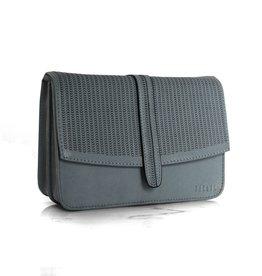 Détail Hope handbag perforated blue