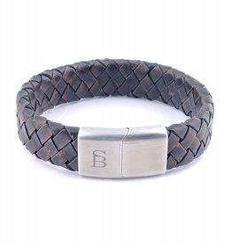 Steel & Barnett Leather bracelet Preston - vintage brown - Size M