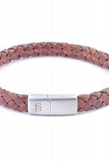 Steel & Barnett Leather bracelet Riley - Caramel - Size M