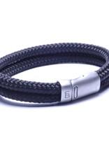 Steel & Barnett Rope bracelet Lake - Black - Size M