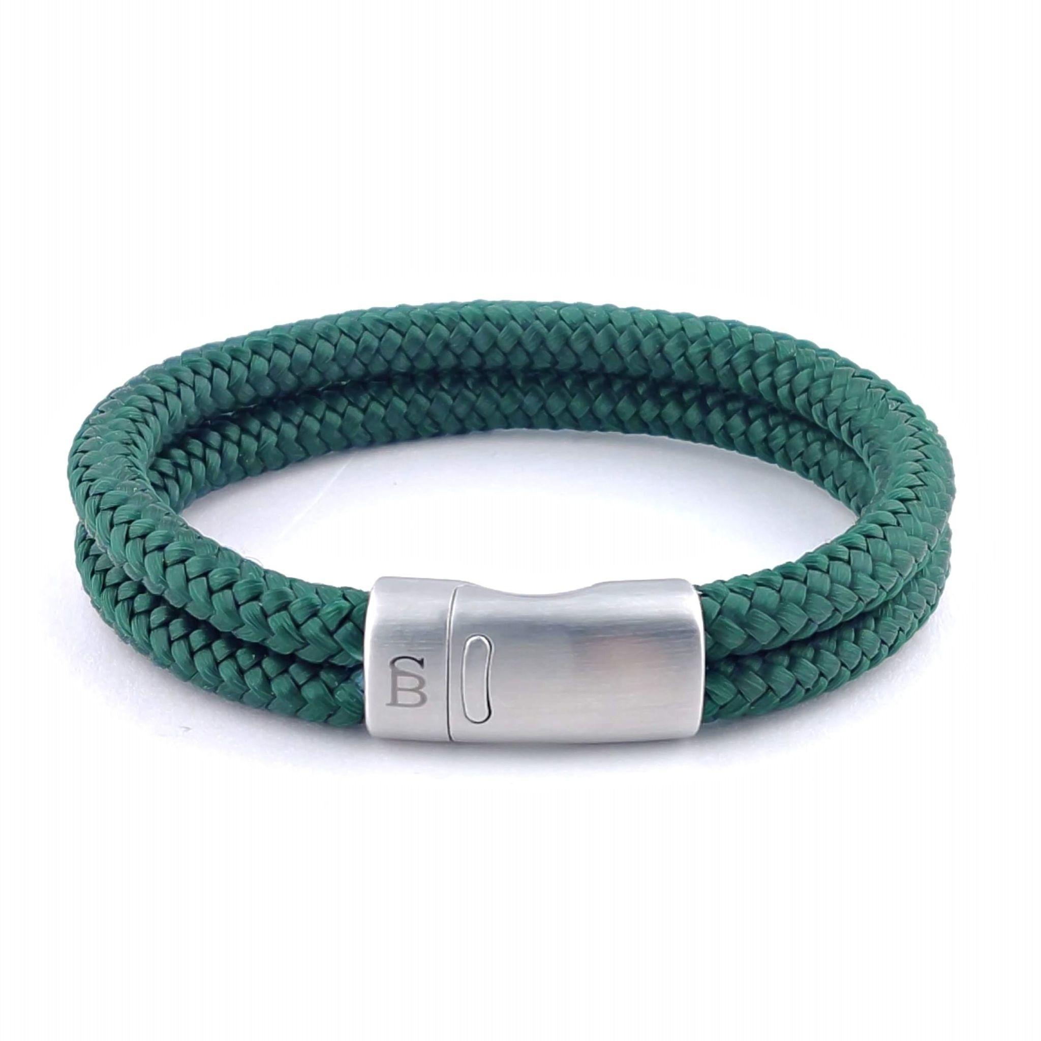 Steel & Barnett Rope bracelet Lake - Green - Size M