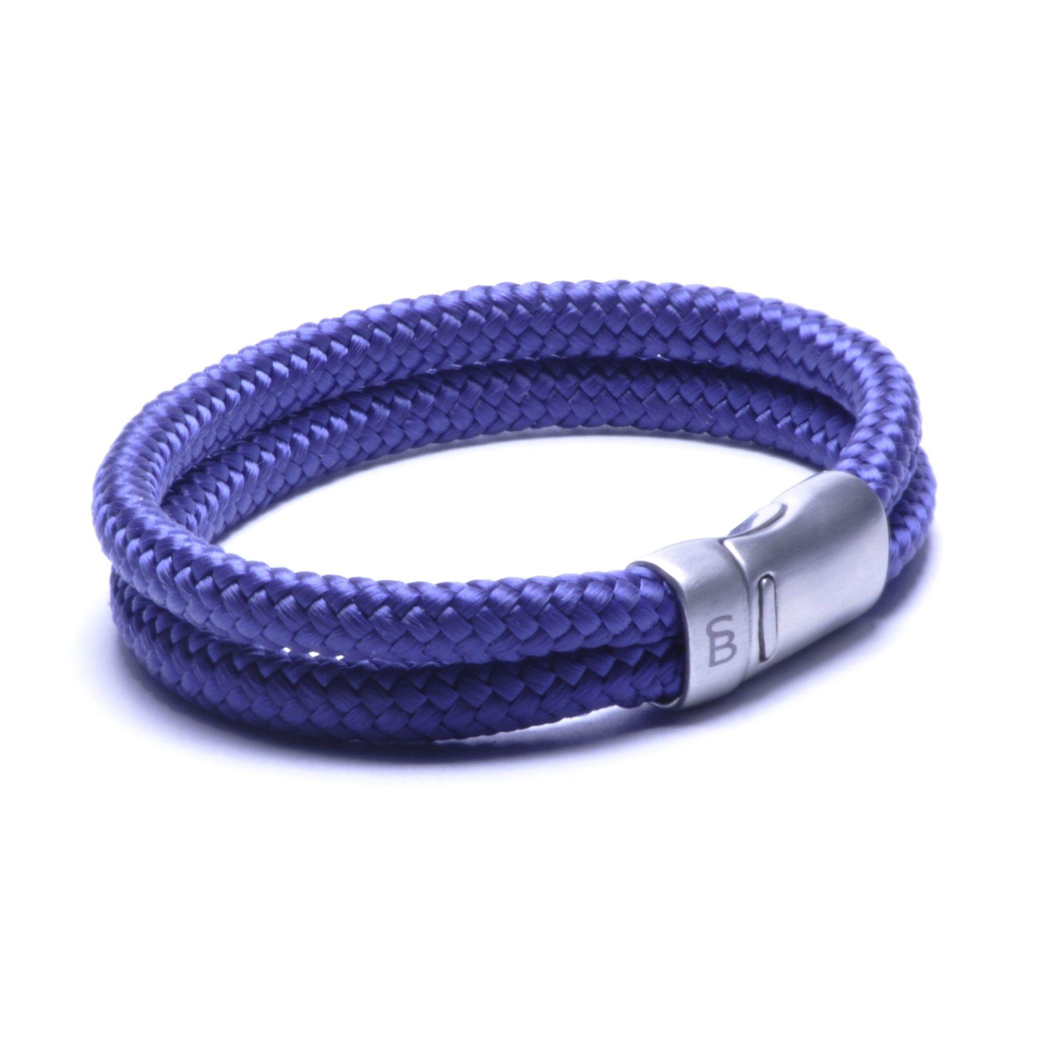 Steel & Barnett Rope bracelet Lake - Navy - Size M