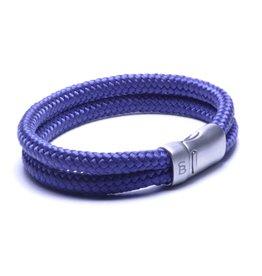 Steel & Barnett Rope bracelet Lake - Navy - Size S