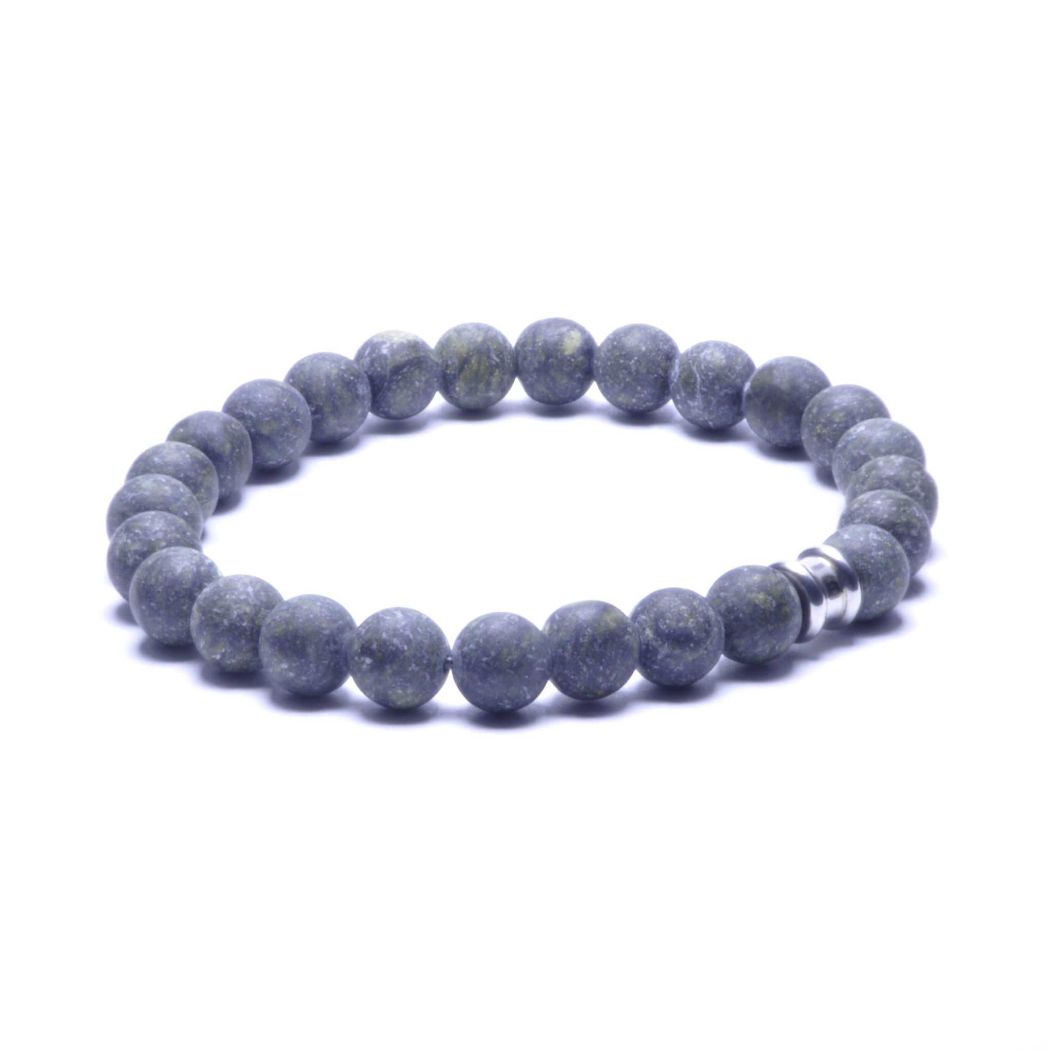 Steel & Barnett Stones bracelet basic - Matt Kabamba - Size M