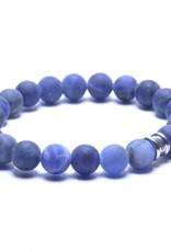 Steel & Barnett Stones bracelet basic - Matt Navy - Size M