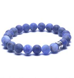 Steel & Barnett Stones bracelet basic - Matt Navy - Size S