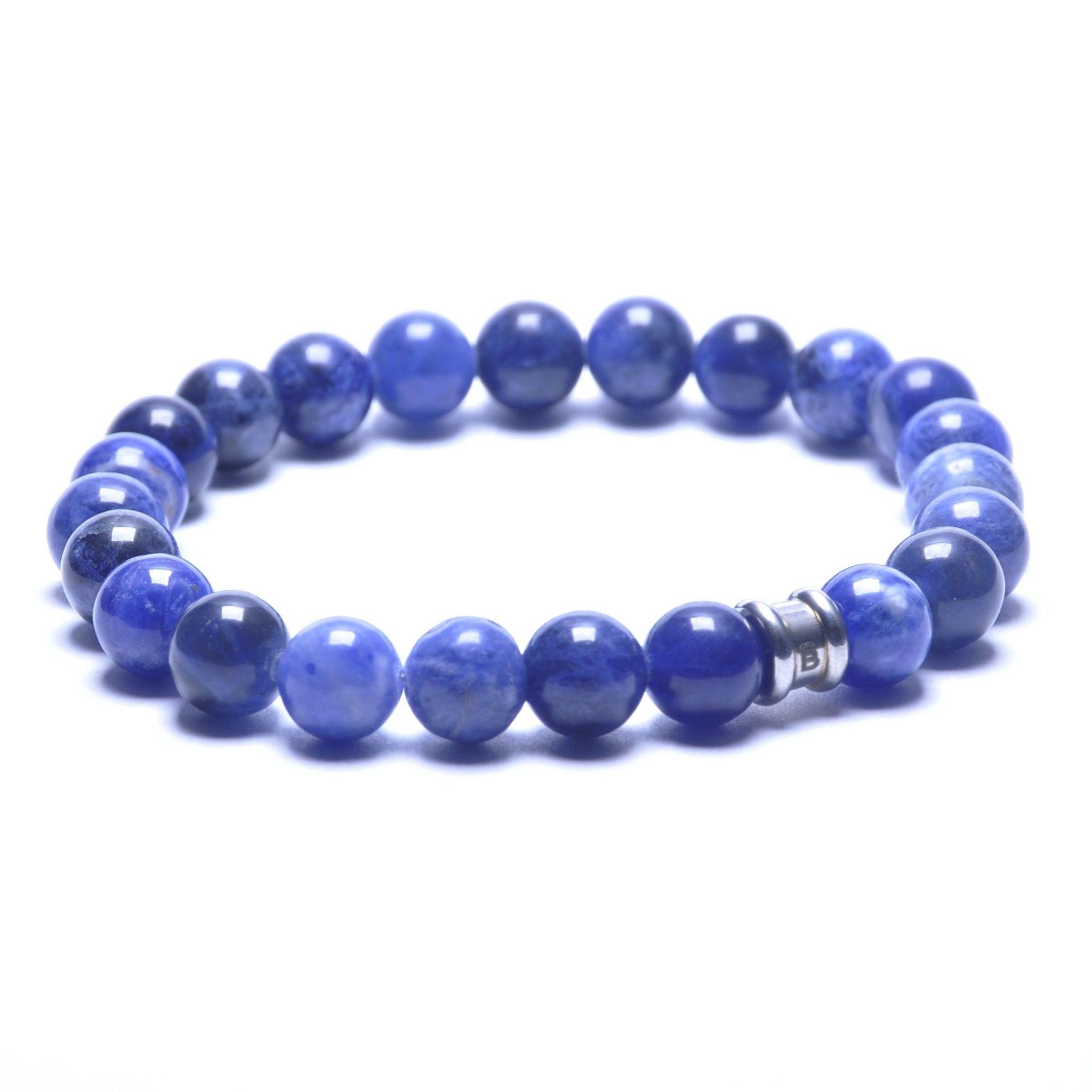 Steel & Barnett Stones bracelet basic - Navy - Size M