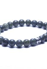 Steel & Barnett Stones bracelet basic - Serpentine - Size M