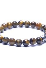 Steel & Barnett Stones bracelet basic - Tiger - Size S