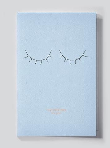 Papette Papette Mytype greeting card with enveloppe 'I only have eyes for you'