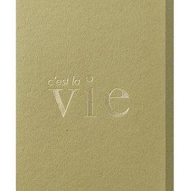 Papette Papette greeting card typo 'C'est la vie'