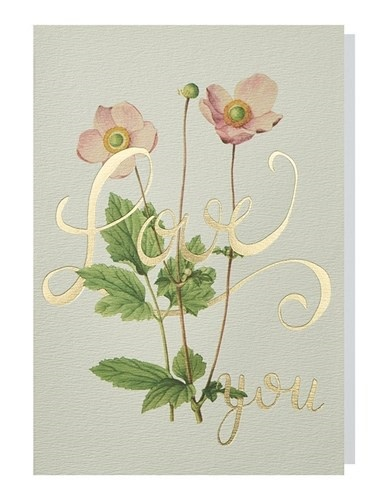 Papette Papette greeting card wild flowers ' Love you'