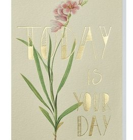 Papette Papette greeting card wild flowers ' Today is your day'
